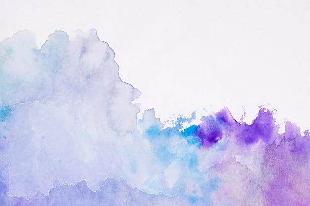 Aquarelle art main peinture dégradé violet fond