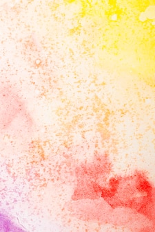 Aquarelle art main peinture fond de couleurs chaudes