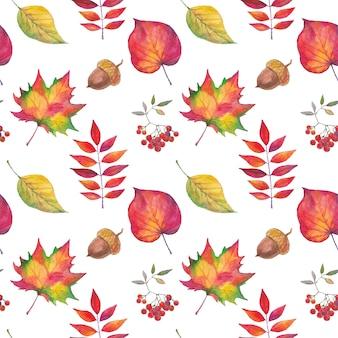 Aquarelle d'automne peinte à la main