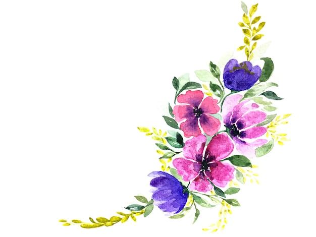 Aquarelle de beau bouquet de fleurs