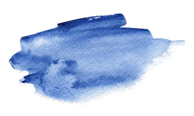 Aquarelle bleue abstraite isolée sur blanc