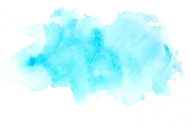 Aquarelle bleue avec dégradé de couleurs
