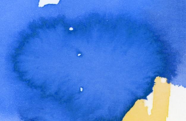 Aquarelle bleue et jaune