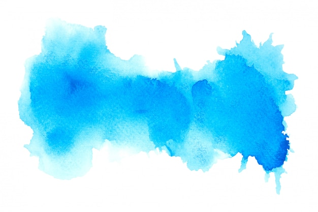 Aquarelle bleue avec des nuances de couleur peinture fond