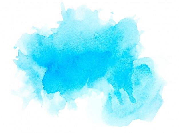 Aquarelle bleue sur papier.