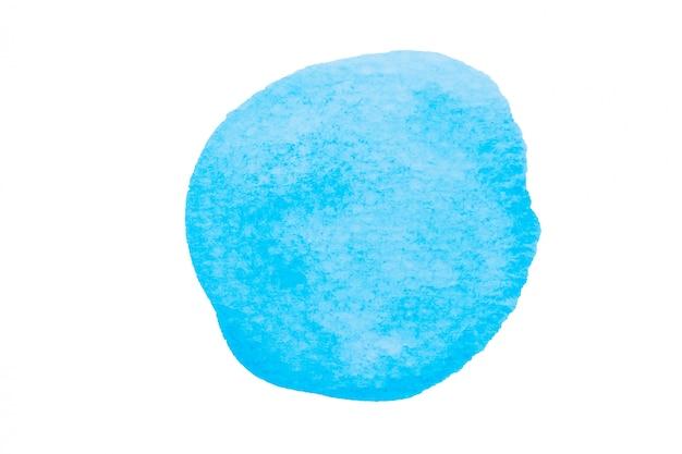 Aquarelle ciel bleu, taches bleu clair isolés sur fond blanc avec un tracé de détourage