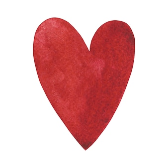Aquarelle coeur rouge clip art illustration de la saint-valentin amour jour élément illustration romantique