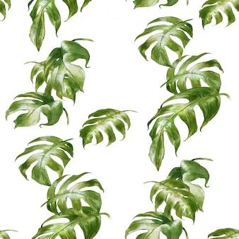 Aquarelle feuilles peinture