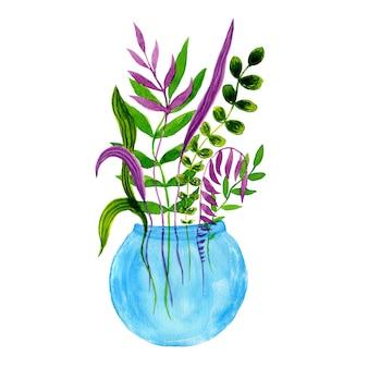 Aquarelle fleurs décoratives