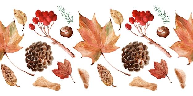 Aquarelle frontières automne dentelle brillante