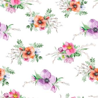 Aquarelle imprimé fleurs