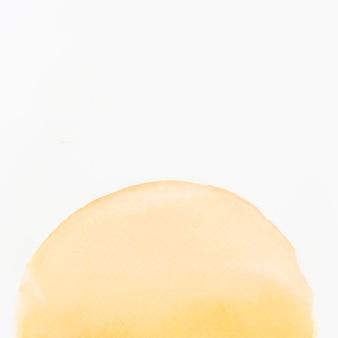 Aquarelle à la main peint éléments de conception de forme de demi cercle sur fond blanc