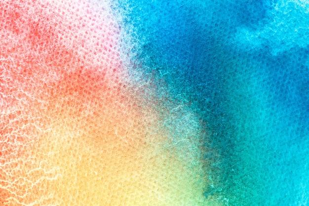 Aquarelle main peinture sur fond de texture aquarelle blanche.