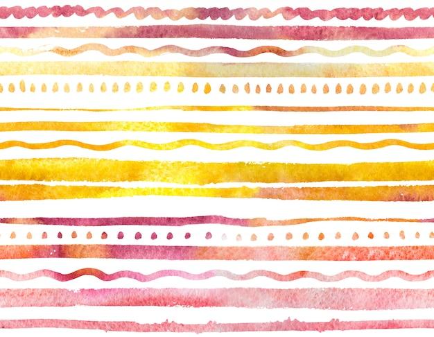 Aquarelle modèle sans couture avec ornement coloré doux