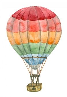 Aquarelle montgolfière