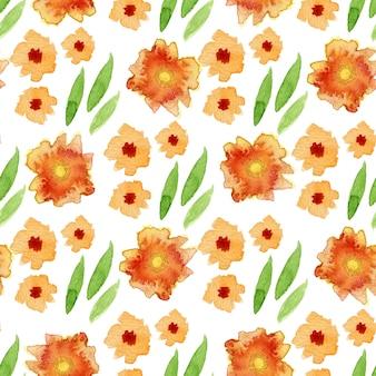 Aquarelle motif floral sans soudure. peut être utilisé pour l'emballage, la conception textile
