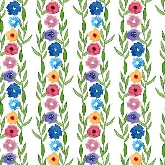 Aquarelle motif floral sans soudure. peut être utilisé pour l'emballage, le textile, le papier peint et l'emballage.
