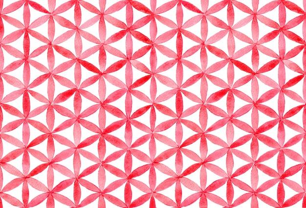 Aquarelle avec motif géométrique