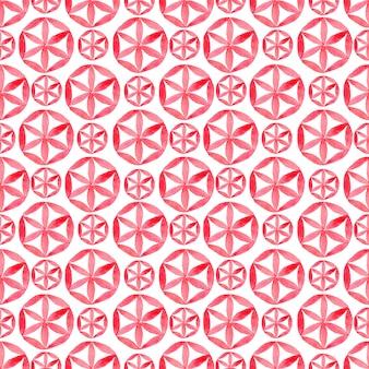 Aquarelle avec motif sans soudure géométrique