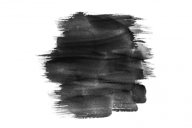 Aquarelle noire éclaboussant, dessin à la main