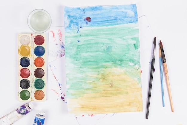 Aquarelle et oeuvre d'art