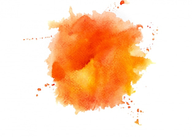 Aquarelle orange