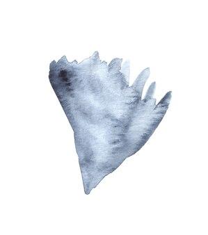 Aquarelle peinte à la main illustration de pétale floral. élément de scrapbooking.