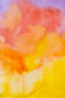 Aquarelle de pinceaux de lever de soleil abstrait