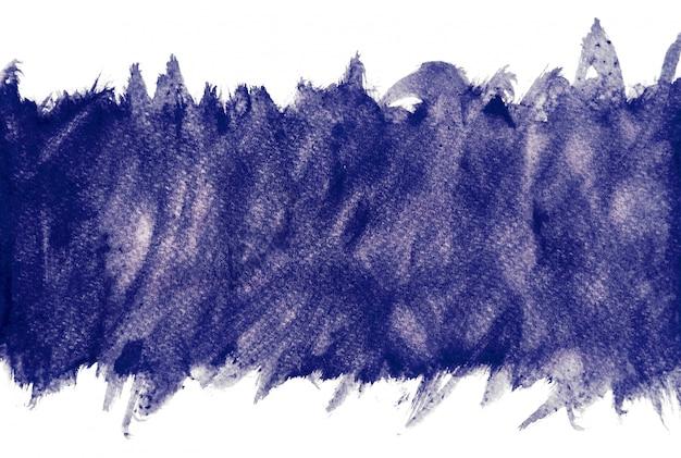 Aquarelle pourpre sur fond blanc, peinture à la main