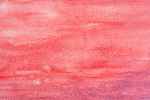 Aquarelle rouge.