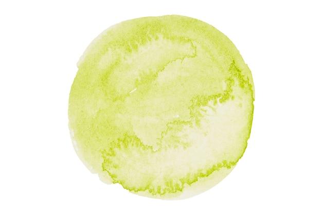 Aquarelle stylisée cercle en couleurs vertes isolées