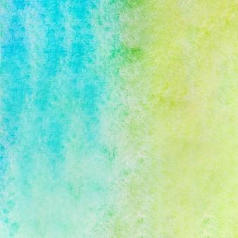 Aquarelle texture de fond bleu et vert
