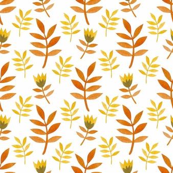 Aquarelle transparente motif de branches et de fleurs