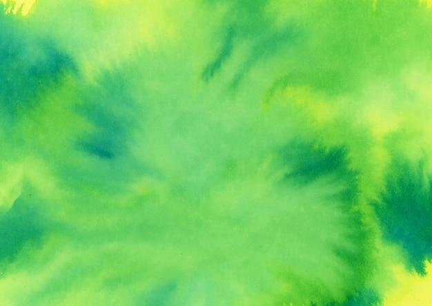 Aquarelle vert jaune