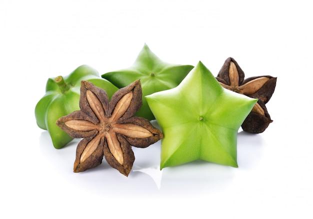 Arachide sacha-inchi, graines fraîches de la gélule fruit de l'arachide sacha-inchi