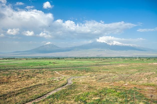 Ararat montagne et champ