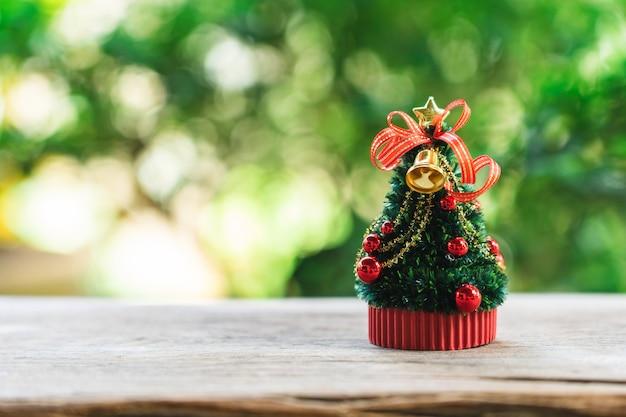 Arbre de noël miniature fêtez noël