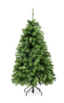 Arbre de noël vert nu et non décoré