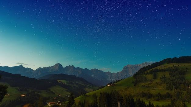 Arbres verts sur la montagne sous un ciel bleu pendant la journée
