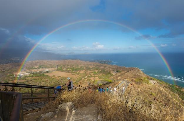 Arc-en-ciel sur hawaii