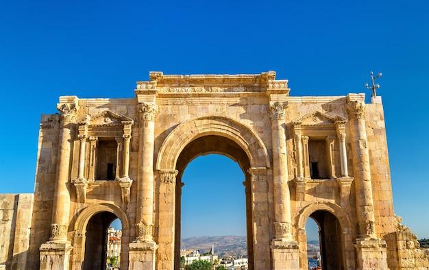 L'arc d'hadrien à jerash, jordanie