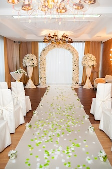 Arc de mariage et décor.