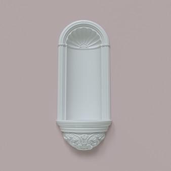 Arche blanche sur fond rose scène pour montrer les produits illustration 3d