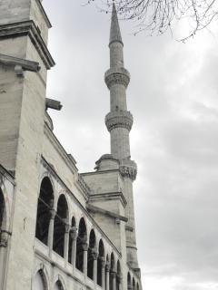Arches et colonnades de la mosquée bleue