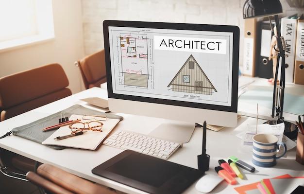 Architecte, architecture, conception, infrastructure, construction, concept