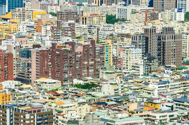 Architecture bâtiment extérieur dans la ville de taipei à taiwan