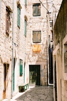 Architecture d'une belle vieille ville vue rapprochée