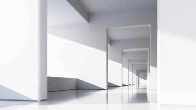 Architecture blanche abstraite