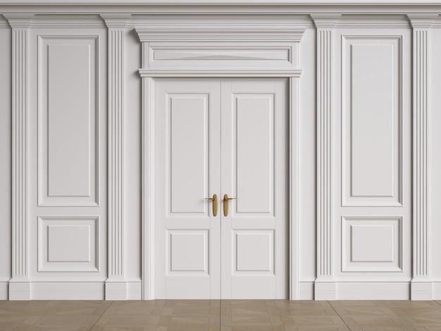 Architecture classique des murs intérieurs