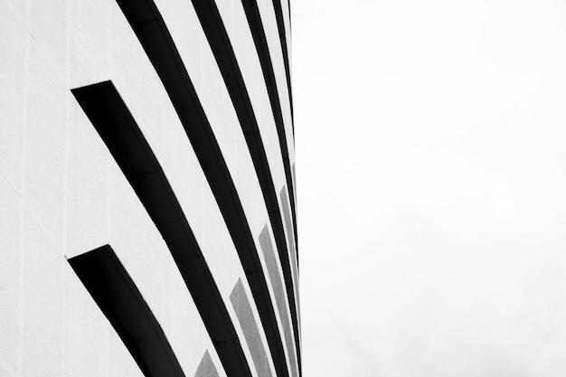 Architecture du modèle de bâtiment moderne noir et blanc